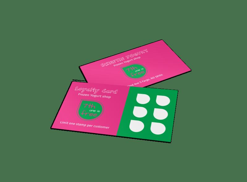 Yogurt Shop Loyalty Card Template Preview 1