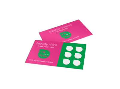 Yogurt Shop Loyalty Card Template