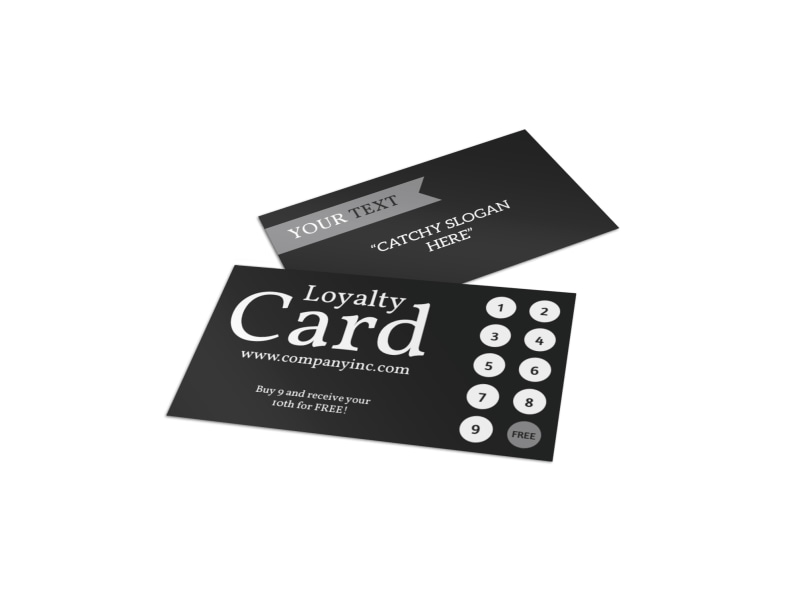 Jeans Bakery Loyalty Card Template