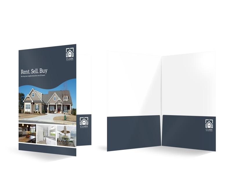 Real Estate Agency Bi-Fold Pocket Folder Template