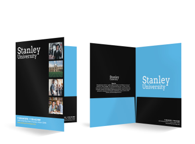 Stanley University Bi-Fold Pocket Folder Template preview
