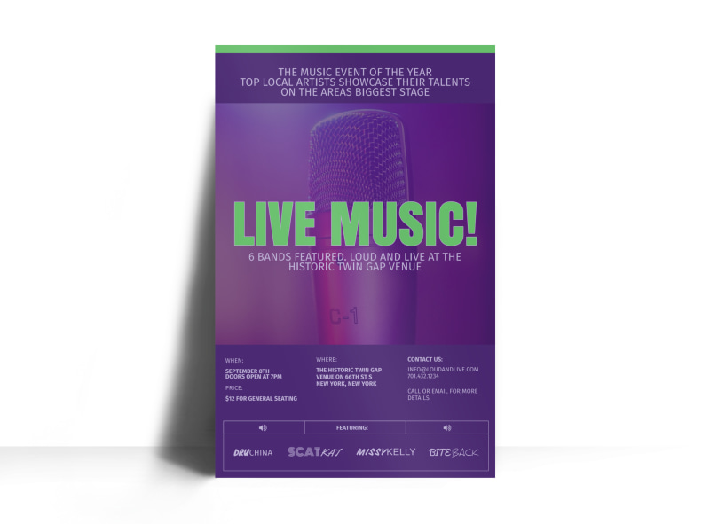 Live Music Poster Template Preview 3