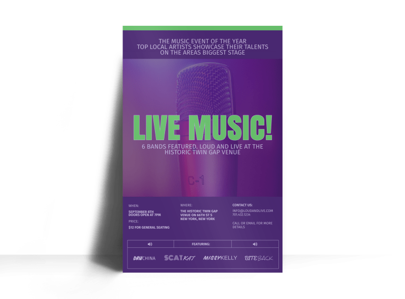 Live Music Poster Template Preview 1
