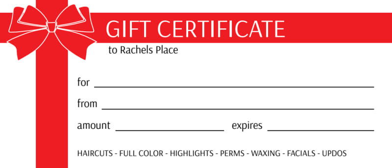 Wrapped Present Gift Certificate Template Preview 2