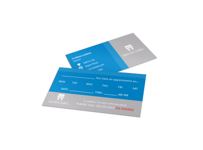 Southgate Dental Reminder Card Template