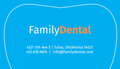 Family Dental Reminder Card Template Preview 2