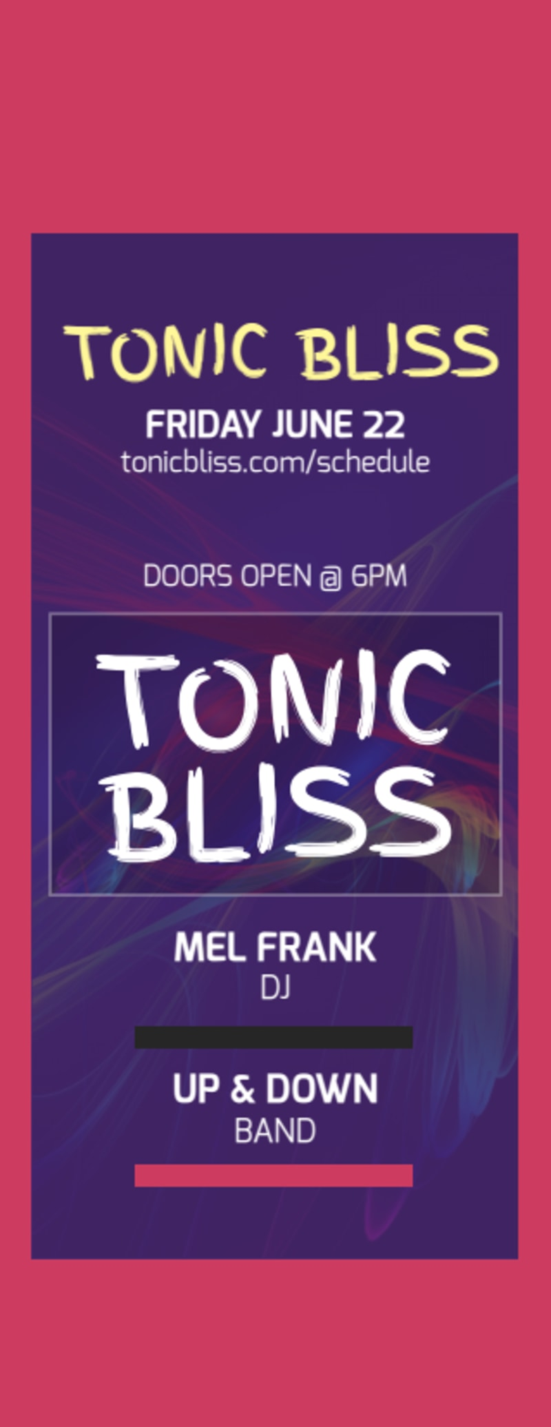 Tonic Bliss Music Concert Ticket Template Preview 2