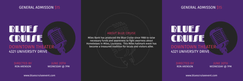 Blues Cruise Table Talker Template Preview 2
