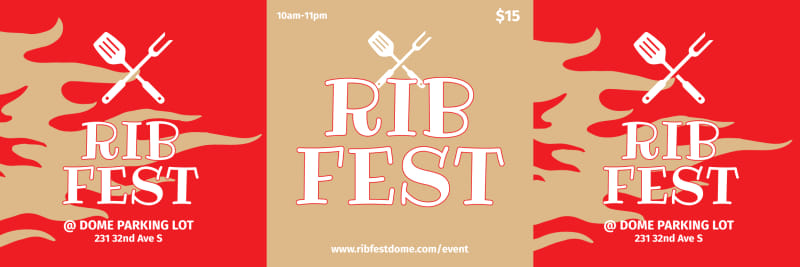 Rib Fest Table Talker Template Preview 2