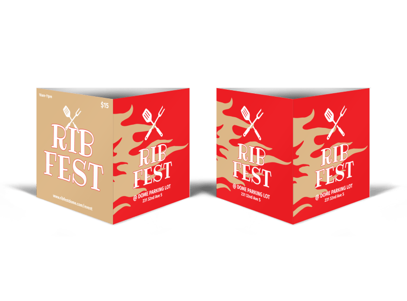 Rib Fest Table Talker Template Preview 1