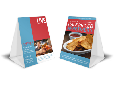 Live Music Night Table Tent Template & Drink Menu Table Tent Template | MyCreativeShop