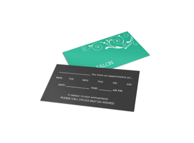 Hair Salon Reminder Card Template