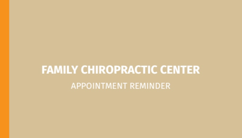 Family Chiropractic Center Reminder Card Template Preview 3