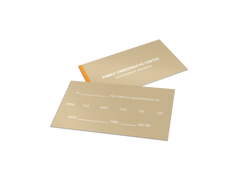 Family Chiropractic Center Reminder Card Template Preview 1