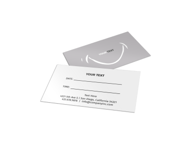 Generic Reminder Cards Template Preview