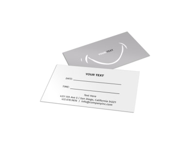 Generic Reminder Card Template 15933