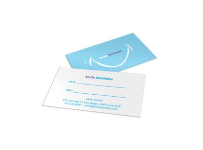 Smile Reminder Card Template preview