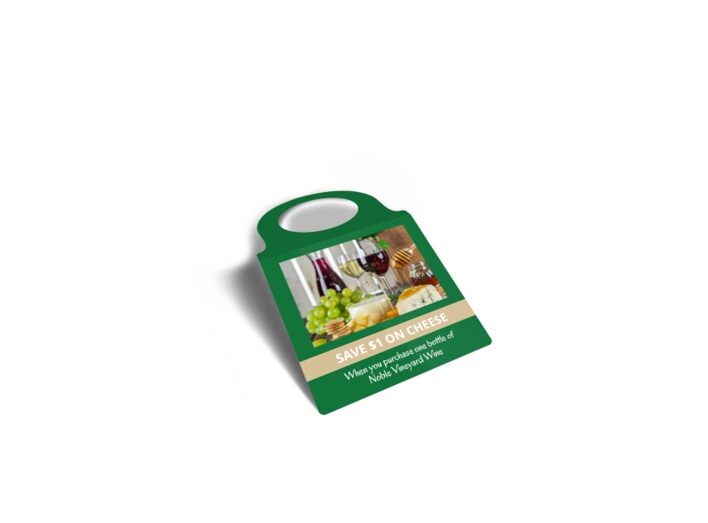 Wine & Cheese Promo Bottle Tag Template