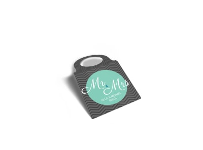 Mr. & Mrs. Wedding Bottle Tag Template