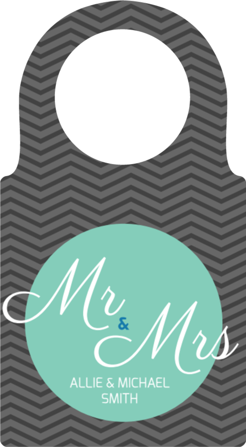 Mr. & Mrs. Wedding Bottle Tag Template Preview 2