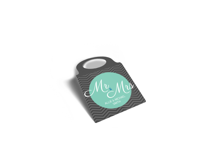 Mr. & Mrs. Wedding Bottle Tag Template Preview 1