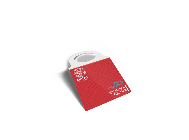 10k Sponsored Race Bottle Tag Template Preview 1