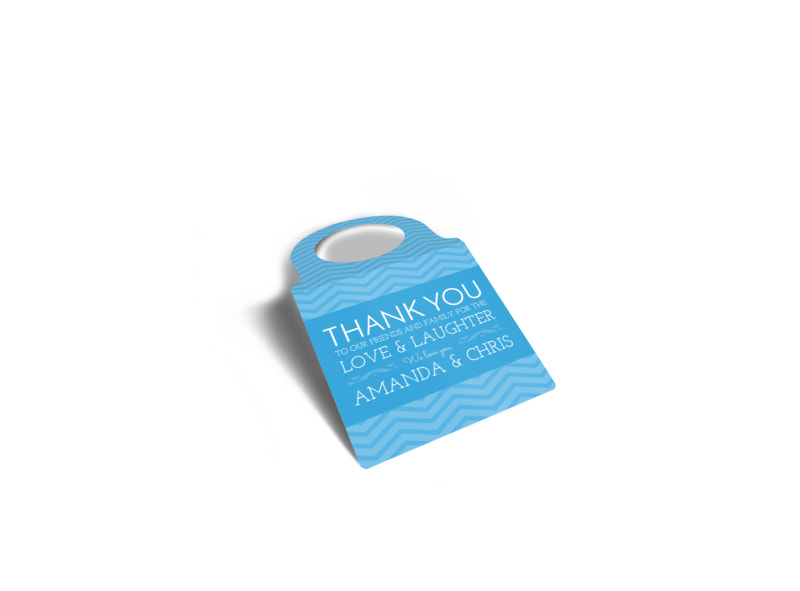 Wedding Thank You Bottle Tag Template