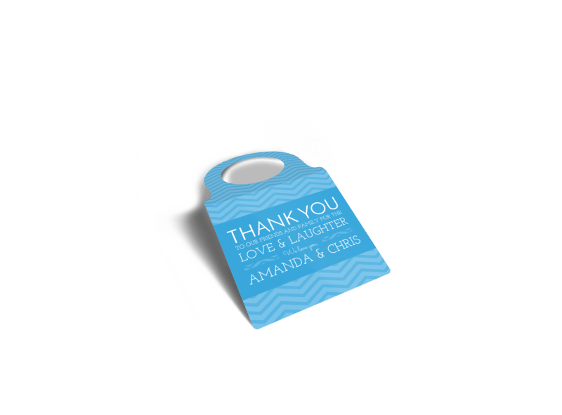 Wedding Thank You Bottle Tag Template Preview 1