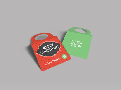 Merry Christmas Bottle Tag Template