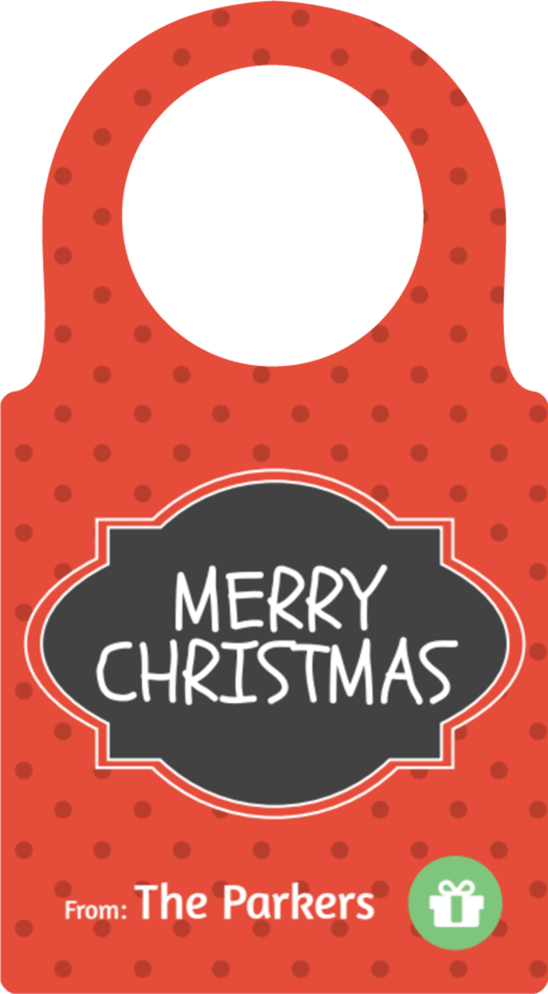 Merry Christmas Bottle Tag Template Preview 2