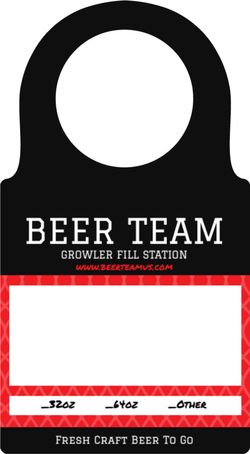 Beer Team Growler Bottle Tag Template Preview 2