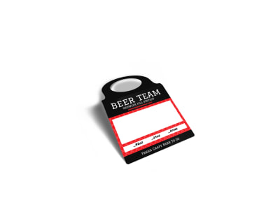 Beer Team Growler Bottle Tag Template