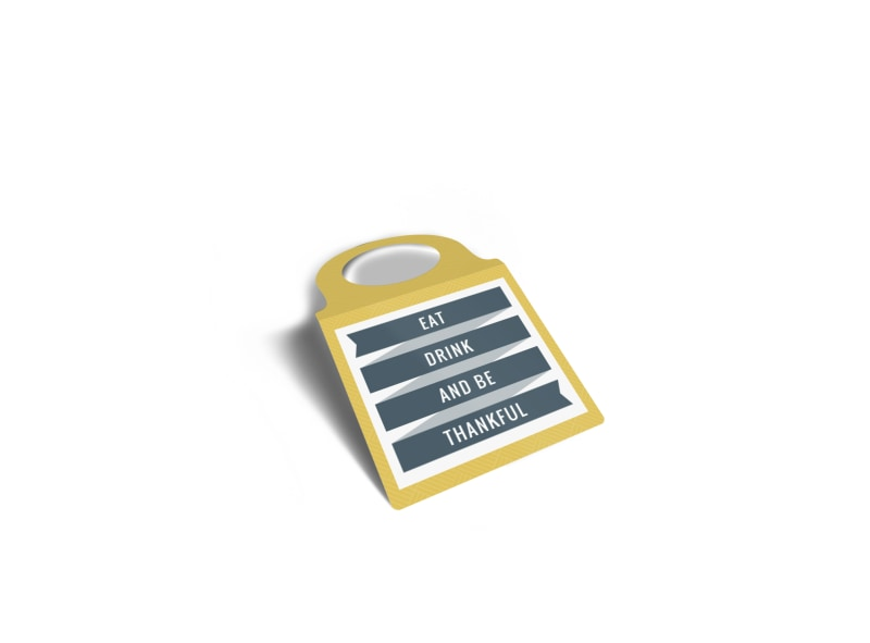 Eat & Drink Bottle Tag Template
