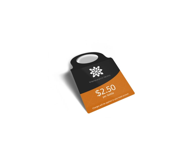 Springfield Hotel Bottle Tag Template