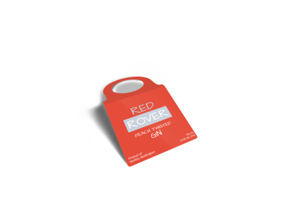 Red Rover Gin Bottle Tag Template