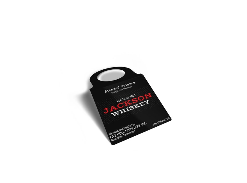 Jackson Whiskey Bottle Tag Template