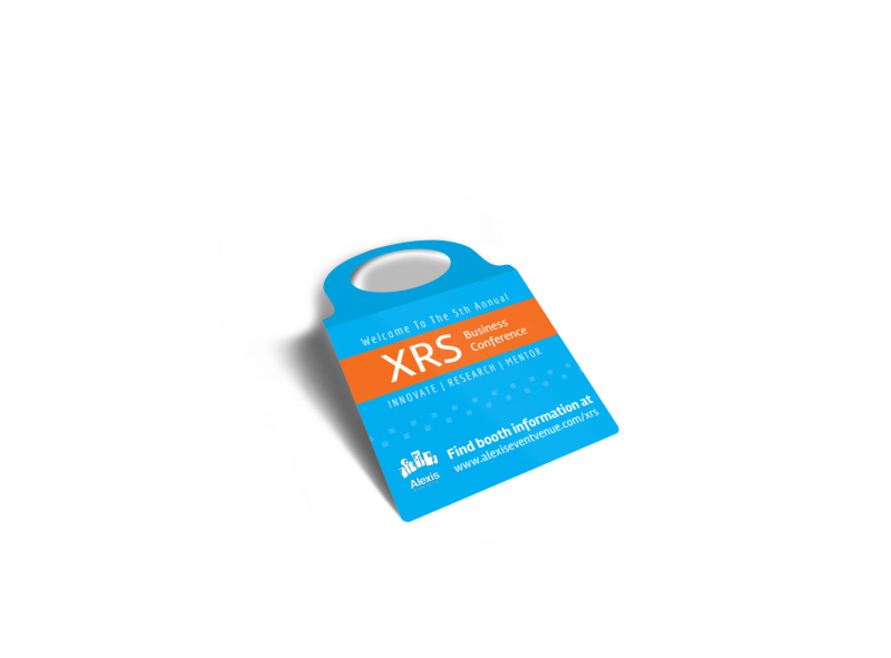 XRS Business Conference Bottle Tag Template