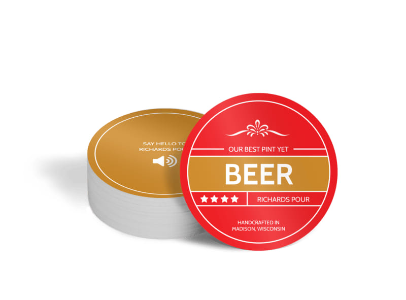 Richards Pour Beer Circle Coaster Template