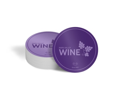 Napa Valley Wine Circle Coaster Template preview