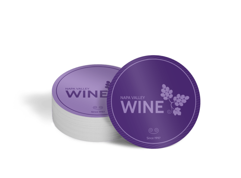 Napa Valley Wine Coaster Template Preview 1