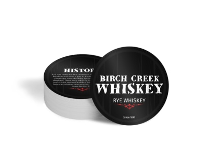 Birch Creek Whiskey Circle Coaster Template