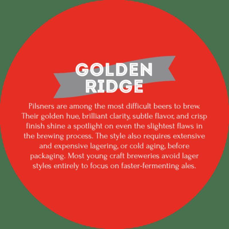 Golden Ridge Beer Coaster Template Preview 3