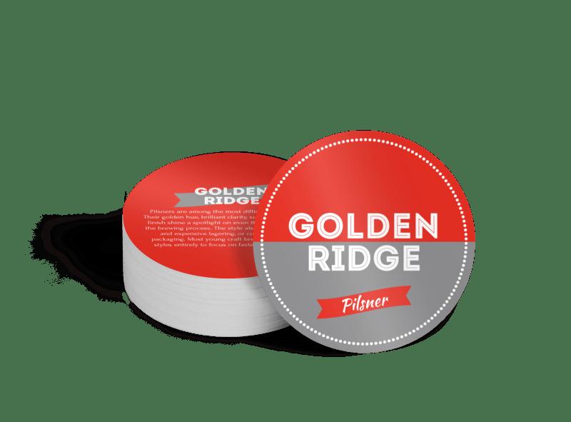 Golden Ridge Beer Coaster Template Preview 1