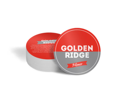 Golden Ridge Beer Circle Coaster Template