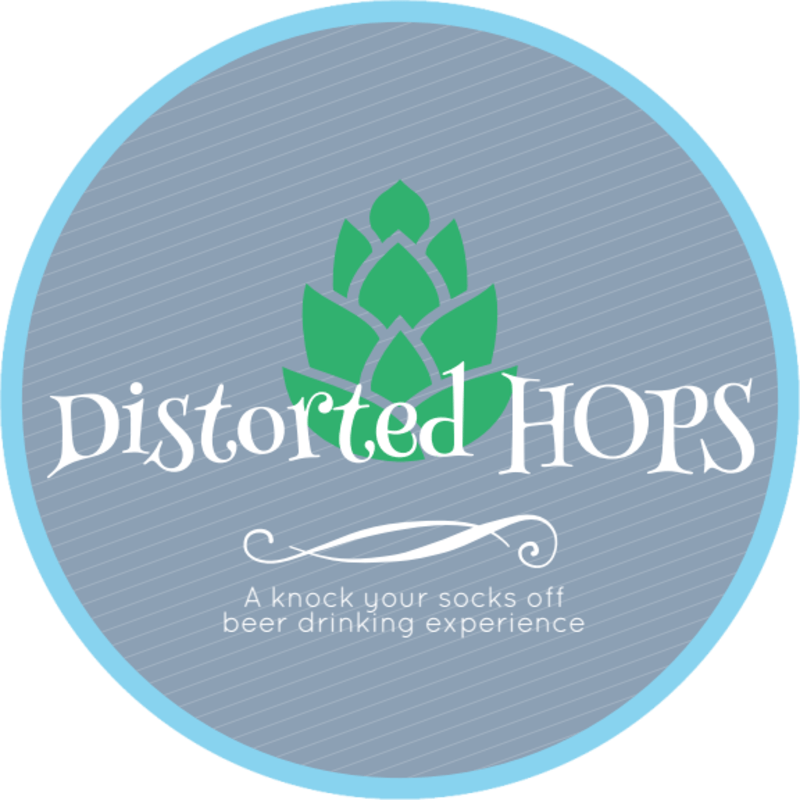 Distorted Hops Beer Coaster Template Preview 2