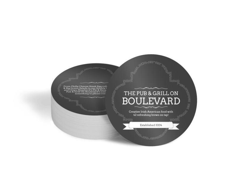 Boulevard Pub & Grill Coaster Template Preview 1