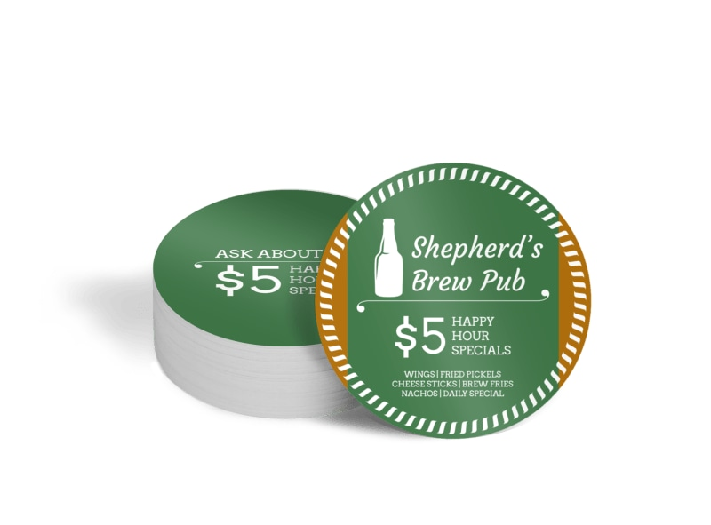 Shepherd's Brew Pub Circle Coaster Template