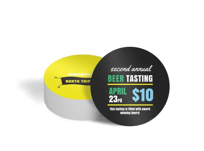 Beer Tasting Circle Coaster Template
