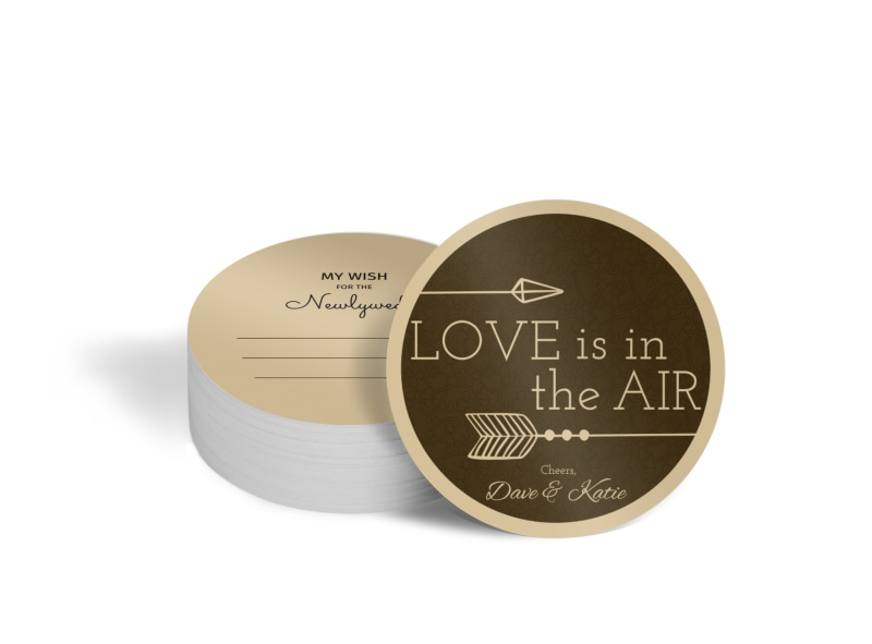 Newlywed Wedding Circle Coaster Template