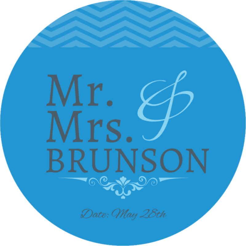 Mr. & Mrs. Wedding Coaster Template Preview 2